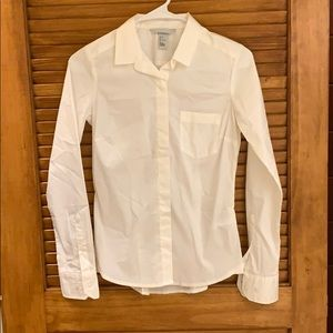 H & M white button down Size 2
